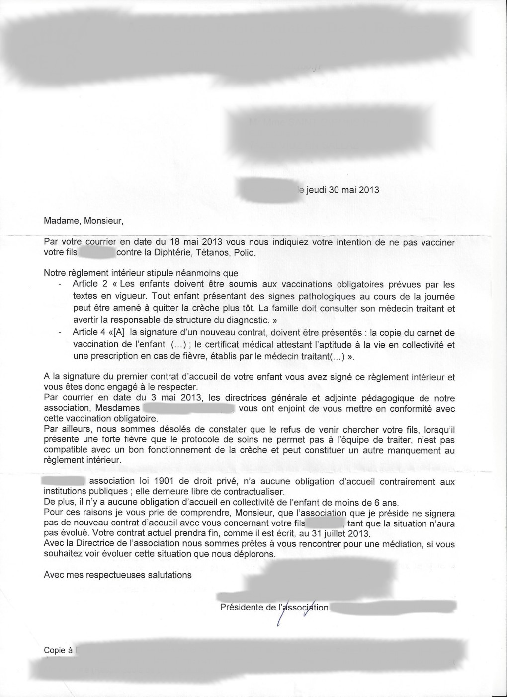 lettre de motivation directrice creche